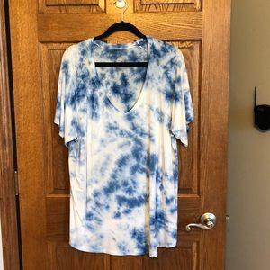AE Soft & Sexy Blue & White Tie Dye Tee NWOT